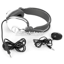 Free Shipping Fashion Online Games 3.5mm Stereo Headphone with Microphone - White(China (Mainland))