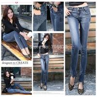 2013 brand  boot cut slim ultra long jeans woman  true jeans for women dark blue ladies jean size 27-33 wide leg
