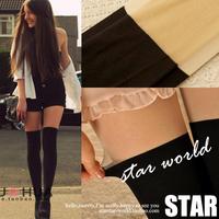 Pl176 Patchwork legging women fashion leggings Over-The-Knee Silk Leggings Women's Fashion Leggings Free Shipping