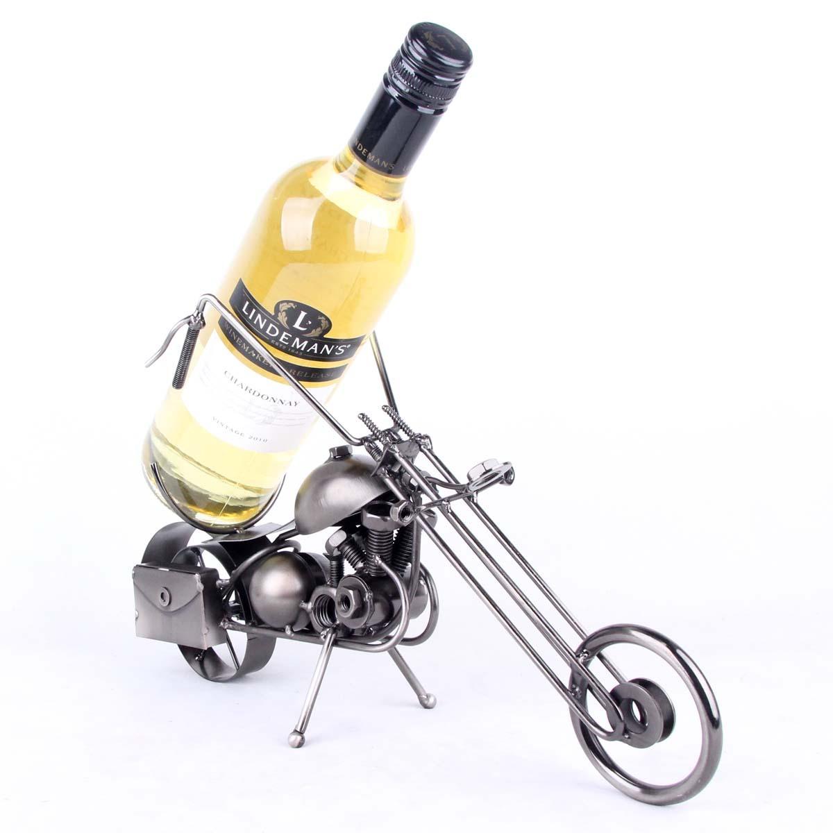 Derlook gepersonaliseerde metalen motorfiets wijnrek derlook wijnkoeler bar - Decoratie bar ...
