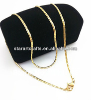 SN059 china factory jewelry 316L Stainless steel gold plated necklace