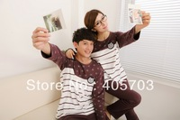 Free Shipping 2013 new Spring and autumn cartoon pyjamas lovers sleepwear long-sleeve short-sleeve