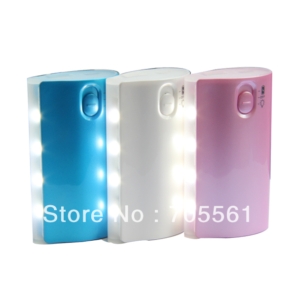 free shipping!best price for unit one usb port with led light emergency power supply 5600mah portable charger power(China (Mainland))