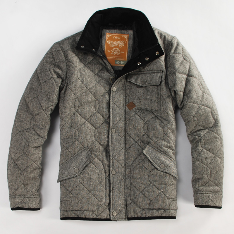 Beautiful gorgeous car plaid wallet cotton slim wadded jacket cotton-padded jacket male(China (Mainland))
