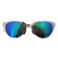 S11082 Cat Eye Style Thin Metal Frame Rim Plastic Arms Women's Sunglasses W/case GREEN REVO