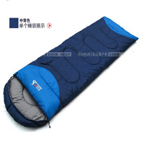 Free shipping Lovers sleeping bag double envelope high quality cotton sleeping bag best single  SL010