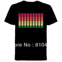 wholesale el product/el t-shirt /led t-shirt/sound active el t-shirt /el music t-shirt
