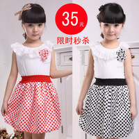 Free shipping 2012 children's clothing girls clothing summer child princess dress one-piece cake dress