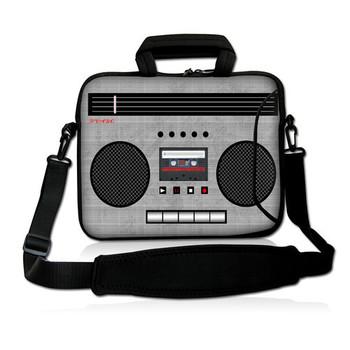 "Cassette 15"" 15.4"" 15.6""  Neoprene Laptop Carrying Bag Sleeve Case Cover w/Side Pocket +Shoulder Strap For Dell Inspiron"