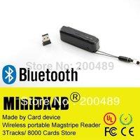 Free shipping Minidx4B bluetooth Portable card reader mini400B comp mini123ex msr206 609 msr 606