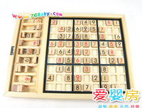 free shipping Child sudoku17 wooden puzzle toy digital baby 3 - 7
