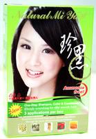 Black Natural Mi Ya: 100% Natural Hair Coloring Shampoo, Ammonia Free, 3 Applications!