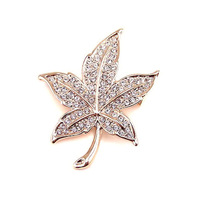 Hot-selling accessories austria crystal elegant leaves crystal brooch corsage female gift