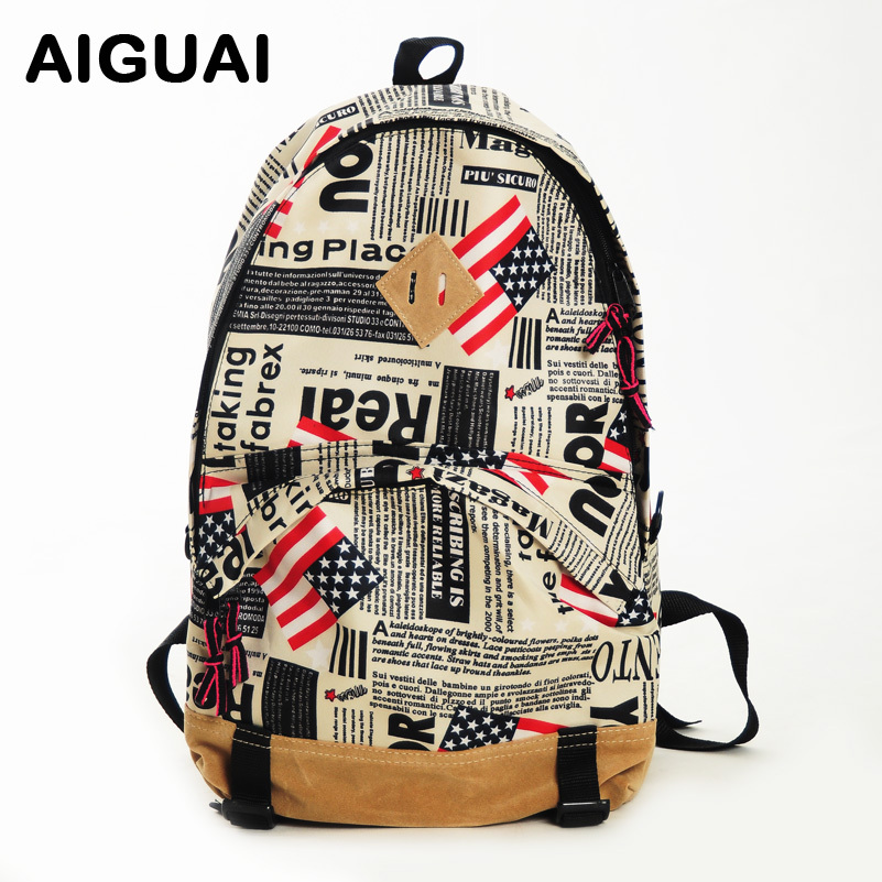 - american flag nylon big backpack school bag(China (Mainland))