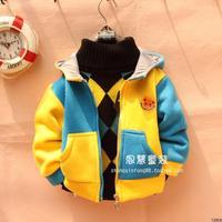 Children's clothing male child female child 2012 winter thickening outerwear circleof pattern zipper-up sweatshirt 176