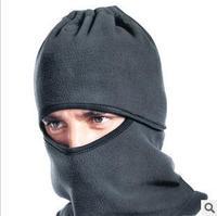 free shipping/ CS Hiking snowboard cap/NWT Black  Full Face Cover /Winter Warm Ski Mask men's Beanie Hat Scarf Hood/5pcs/lot