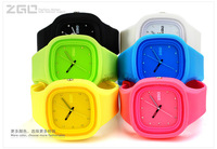 Free shipping electronic colorful caddy watch rubber watches custom jelly silicone sports unisex watch