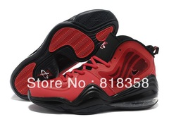 Free Shipping Wholesale Cheap Discount Air Penny Hardaway V Bright Crimson Men&#39;s basketball shoes fire red / black(China (Mainland))
