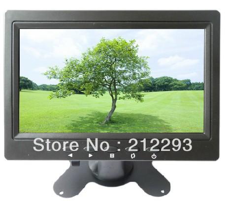 "factory price! 7"" lcd cctv monitor with BNC/ mini VGA /AV in ,16:9 wide panel +China post Free shipping(China (Mainland))"