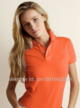 Free Shipping POLO Women's T-shirt ,Wholesale shirs for women clothing ,brand summer cotton causal logo top tees apparel