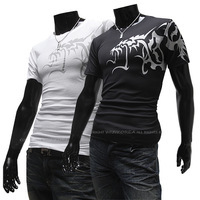 DROP SHIPPING,2013 Men's t shirts Top Brand ,Men's Slim Short-sleeve Round Neck T-shirt, M L XL XXL,RD468