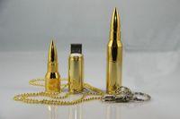 NEW golden Metal Bullet Shape Genuine 4GB 8GB 16GB 32GB USB Memory Stick Flash Pen Drive