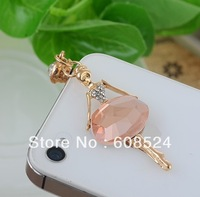 Free Shipping Ballet Girls Dust Plug 3.5mm dust plug mobile phone wholesale