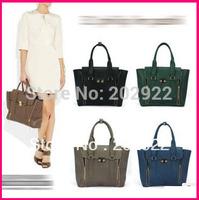 Brand New Celebrity Phillip Double Zipper Women Rock Tote Hobo Easy Bags shoulder Handbags Women Shoulder bags Free shipping