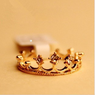 At Least $8 (can mix order) At Least $8  Factory Wholesale Price Elegant Crown Finger Ring free shipping 5251