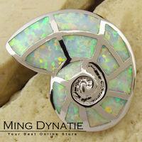 White Fire Opal Silver Fashion Jewelry Women & Men Pendant OP046B Wholesale & Retail