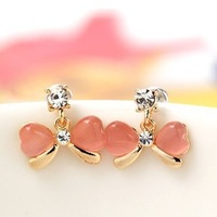 At Least $8 (can mix order) Factory Price Fashion Resin Bownot Stud Earrings free shipping E039