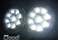 2 x 9 LED Round Fog light lamp kit for car Waterproof Auto LED DRL Daytime running light ,Free shipping