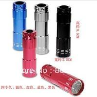 5Pcs/Lot Free Shipping Portable LED Waterproof Mini Flashlight 9* Lamp LED Torch Flashlight