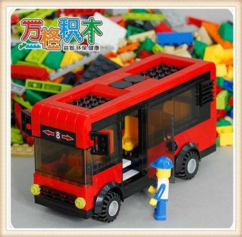 WANGE 318pcs/set Heavyweight City Bus Block,Children's Educational Assembly Blocks Bricks Toys 30132, Free Shipping