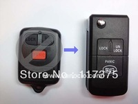 BYD F3 , F3R modified 3 button remote key cover shell
