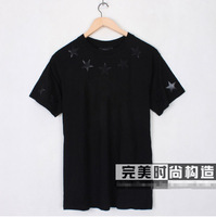 Free Shipping! New Giv Men's Black Star Short sleeve T-Shirt Shirts Soft Cotton Shirts Top Tops