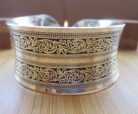 BR098 European Concave Metal Tibetan Silver vintage retro Bangle Cuff Bracelet Valentine's Day Gift for her Cuff
