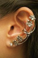 Fashion Hot Sale New Arrival Vintage Punk Style Ear Clip Personality Unique Flowers Earring E636