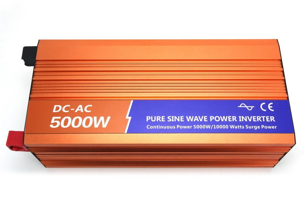 Off inverter 5000w Pure Sine Wave Inverter for Solar or Wind System, Single Phase, Surge 10000w, DC48V/110V, AC110V/220V,(China (Mainland))