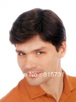 Custom Size & Color 100% Hand-Tied Full Lace With PU Natural Hair 6*9 Mens Toupee--Men's Hairpieces--Free Shipping