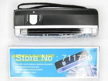 Quality goods 1pc handheld money detector back light UV lamp forge money test currency/bank note detector Handheld +flashlight