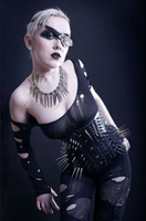 Annzley New Design Sexy Black Patent Leather Gothic Corset 2013