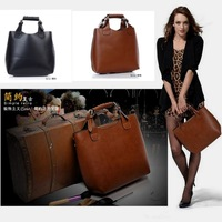 Hot Sale The Starts Loving PU Leather Brand Design Vintage Fashion Style Shoulder Bag/HandBag/Totes Free Shipping C-1078