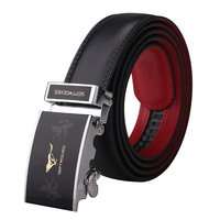 2013 new arrival famous brand in China SEPTWOLVES genuine leather men belt commercial automatic buckle