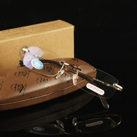 High-quality Frameless reading glasses with original box Free shipping