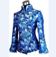 Free Shipping New Charming Chinese Women's silk jacket /coat SZ S M L XL XXL XXXL WJ6651