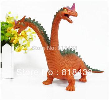 Double dragon simulation model dinosaur toys furnishing articles toy dinosaur plastic doll
