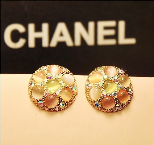 Day gift accessories jewelry multi-colored elegant personality elegant - eye circle stud earring(China (Mainland))