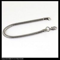 Free Shipping! Simple Fashion Silver Stainless Steel Jewelry  Boutique  Bracelet Circular Snake Chain SS--060