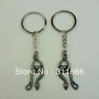 12 pairs/lot Free shipping Alloy Key chain/King holder/Key ring Hot sale Snake shape